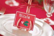 Porte nom noel / Porte nom Noel, marque place noel, Christmas place card holders