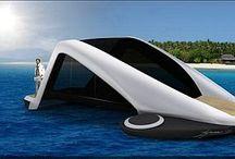 futuristische voertuigen water
