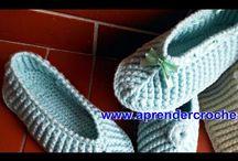 pantuflas en crochet