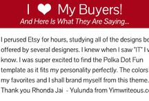 I Love My Customers / Amazing Testimonials & Feedback from my customers!