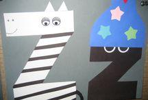 Alphabet Letter Art in Kindergarten