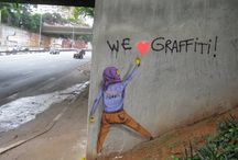 Street Art  / Arte nos muros , paredes e prédios nas Ruas do Mundo / by Heleny Ricci