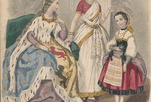 XIX wiek inspirowany strojami ludowymi i kulturą słowiańską