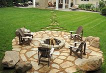 Classy Campfires / #Campfire #designs that we love! You can create these finished products by using our Landscape Edging from YardProduct.com. #Landscaping