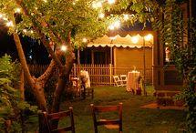 una cena d'estate... un giardino di sera