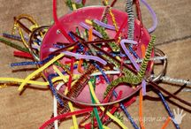 pipe cleaners and pompoms