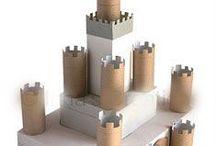 Burg Bauen mit Papprollen