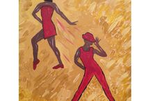 The Founder's Palette / Original artwork by Ginger Haithcox