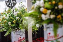 Jacqui O Wedding venue flower arrangements