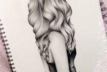 Zeichnungen/Drawing / Alles was mit Bleistift, Kohle, Kreide oder Rötel gezeichnet wurde