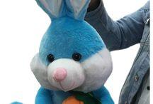 Oyuncak Havuçlu Tavşan 40 cm Kargo Ücretsiz