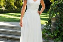 Wedding Dress Ideas / Alright, folks, I'm looking for a flowy, empire-waisted wedding dress that is made from a natural fiber - cotton, linen, silk - and is, if possible, less than $300.    Pin away.
