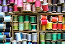 threads / embroidery, tapestry, cottons, silks and linens. anything to do with beautiful stitching.