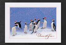Penguin Christmas Cards / Cute personalized penguin Christmas cards great for business or personal use! www.penguinchristmascards.com