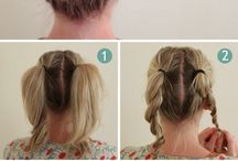 Hannah's circus hairstyles