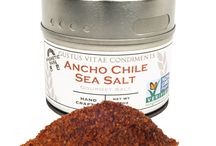 Ancho Chile Sea Salt Inspiration / Bring the heat and smoky flavor to the kitchen and grill with this salt. Amplifying flavor and elevating dishes is what it does best.