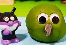 アンパンマンストップモーション❤粘土の中から飛び出せ!バイキンマン!アニメ&おもちゃ Anpanman toys