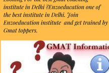 gmatcoaching / Enzoeducation one of the best Gmat institute in Delhi. GMAT is one of the most popular competitive exams. GMAT exam, typically, requires long and hard training, if you're not strategically planning out a study plan, which can be provided by only a select few best institute for gmat preparation in Delhi. http://www.enzoeducation.com/