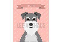 Lee ArtHaus Schnauzer Dog Products / Lee ArtHaus Schnauzer Dog Products