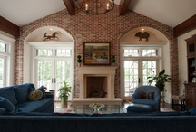 Brick / When brick works in kitchens, fireplaces or anywhere.