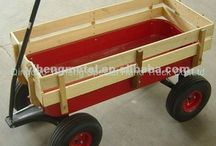 Wooden wagon kids hand cart baby