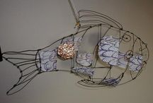 fish wire / decoration