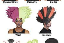 костюмы, парики, шляпы