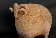 Animais de cerâmica