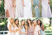 Your Summer Wedding Inspiration / The perfect bridesmaid and groomsmen ensembles and inspiration for summer weddings featuring lighter and brighter  summer colors.