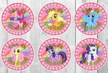 Personalised Stickers / Personalised stickers - My little pony, Shopkins, Disney, etc