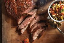 Cedar Plank Steak with Charred Garden Salsa / Want a change from basic barbecued steak? Try Canadian Beef's recipe using a cedar plank - Cedar Plank Steak with Charred Garden Salsa http://bit.ly/1nbTl4g