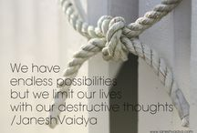 Thought of the day/Janesh Vaidya / Inspirational postcards