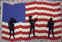 """Special Tribute to our Vets / Military appliques, quilt kits and patterns to """"Thank"""" our vets for their service.   Great to use in those Quilts of Valor projects.   Available at www.appliquesquiltsandmore.com"""