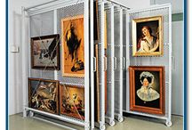 Art Studio - Organization and Storage / Art Studio organization, storage ideas and different layouts