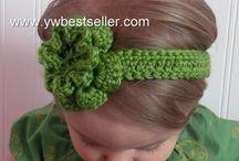 Adornos para el pelo crochet