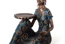 esculturas em gesso