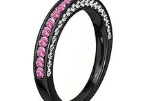 Jewellery / Fashion Jewels Wedding Band Ring Finger Pink Sapphire With Cubic Zirconia Alloy Engagement Ring