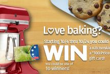 Fall Baking Giveaway 2015 / Enter the Price Chopper Fall Baking Giveaway for your chance to win one of 10 KitchenAid Mixers! Visit http://pricechopper.com for more details and official rules.  / by Price Chopper Supermarkets
