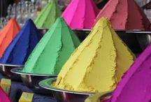 Colorful Devaraja market in Mysore, Karnataka / Colorful Devaraja market in Mysore, Karnataka