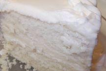 Moist white cakes