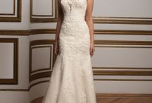 Strapless / Wedding dresses that gracefully frame a bride, showing off her shoulders and neck with a sweetheart or straight style. The only thing you'll be lacking on these beautiful gowns is straps.