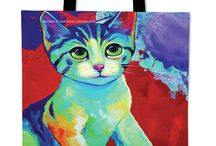 Cat Lovers Custom Tote Bags / Are a cat lover? Then you should definitely check out these custom art slip-on shoes made just for cat lovers! Hurry! Only 1,000 Made Per Design!