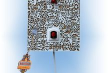 Cuckoo Clocks - Modern / Modern style authentic German Black Forest cuckoo clocks available at Bavarian Clockworks.