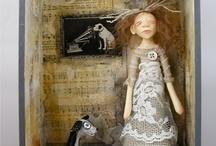 displaying dolls
