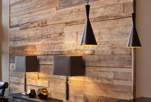 Стены из термообработанной древесины