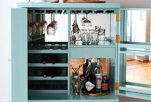 Raising the Bar / Home bar styling; bar cabinets and carts / by Jackie Ambler