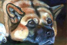 Akita Dog / My Art of the Akita Dog. Lyn Hamer Cook© www.PetArt.net