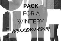 Winter weekend away packing