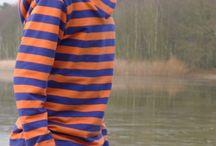 Sudadera Rayas Azul/Naranja - Lillestoff