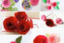 Роза из бумаги своими руками / Роза из бумаги своими руками, как сделать розу из бумаги мастер-класс